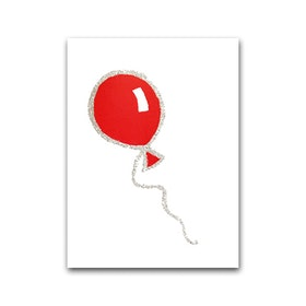 Nobhilldesigners litet kort Ballong röd silver