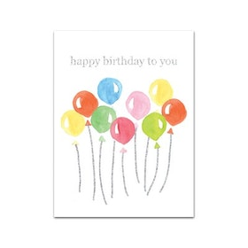 "Nobhilldesigners litet kort ""Happy Birthday to You"""