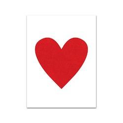 Nobhilldesigners litet kort Hjärta röd