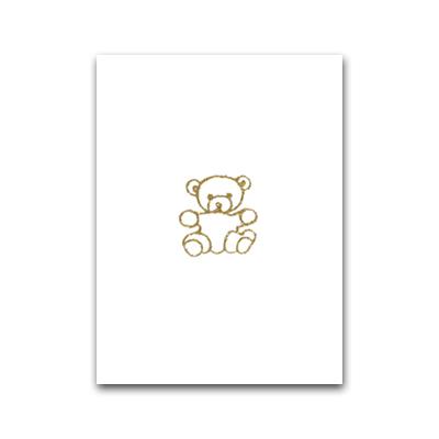 Nobhilldesigners litet kort Nalle guld