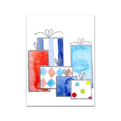 Nobhilldesigners litet kort Paket blå