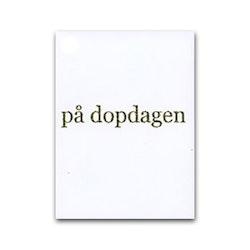 """Nobhilldesigners litet kort """"På dopdagen"""" guld"""