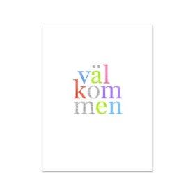 """Nobhilldesigners litet kort """"Välkommen"""""""