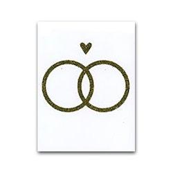 Nobhilldesigners litet kort Ringar och hjärta