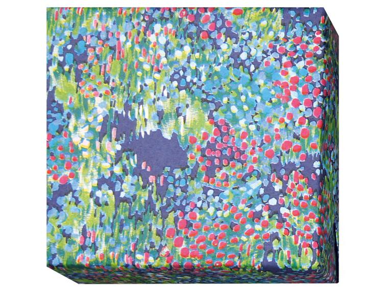 Presentpapper Blomsterhav blå