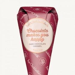 "Åre Chokladfabrik strut ""Chocolate makes you happy"""