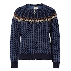 Jumperfabriken Hillevi cardigan blue