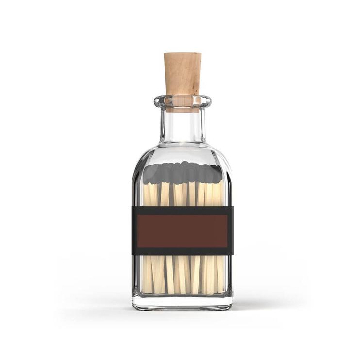 Eldstickan tändstickor flaska svart