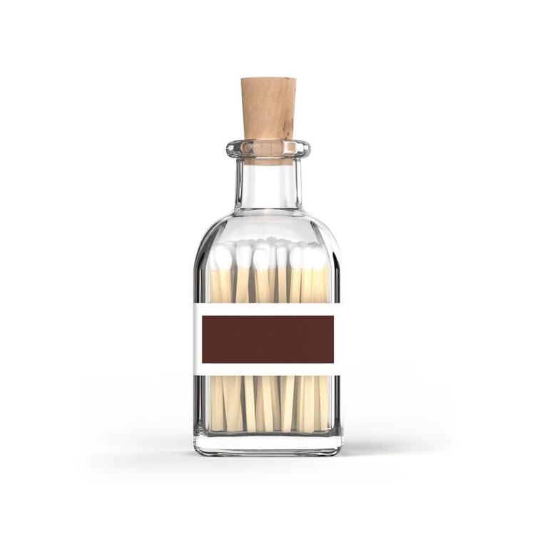 Eldstickan tändstickor flaska vit