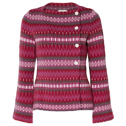 Jumperfabriken Siv cotton cardigan red AW19