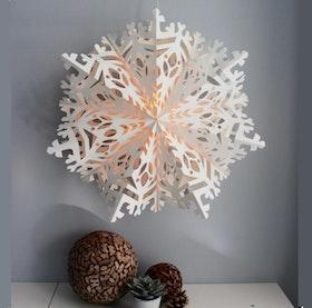 Snowflake julstjärna Asta 60 vit