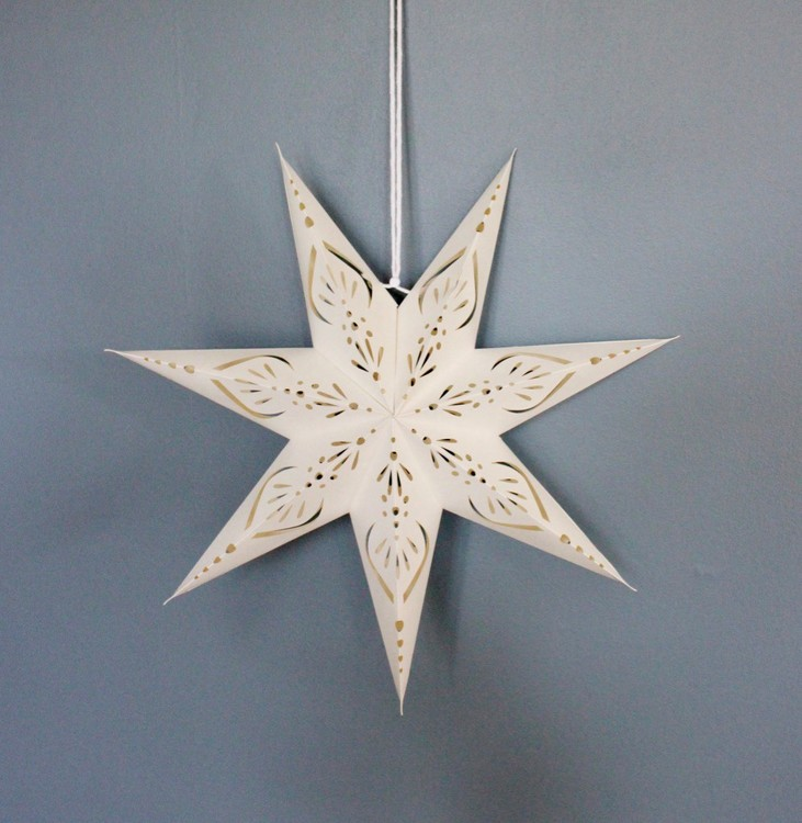 Snow julstjärna Aurora 45 vit