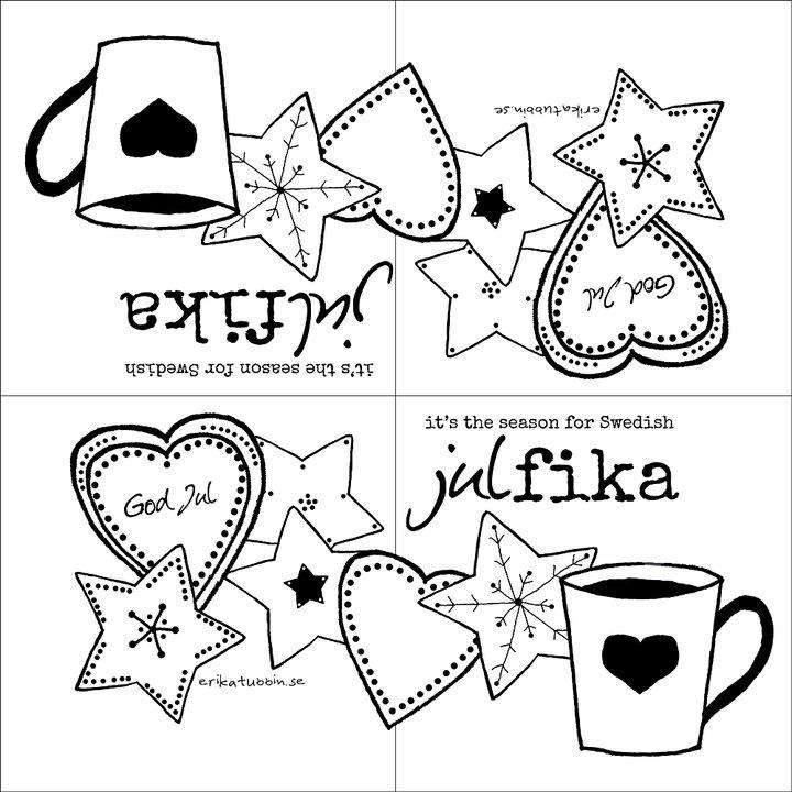 "Erika Tubbin ""Swedish julfika"" kaffeservett"