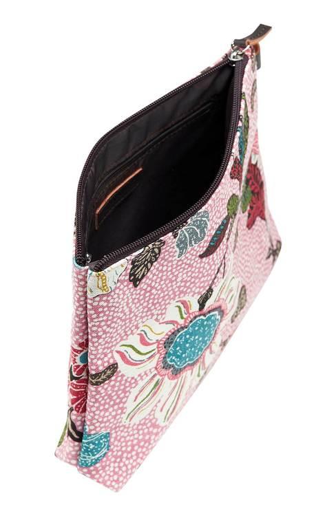 Ceannis Flower Linen necessär Pink