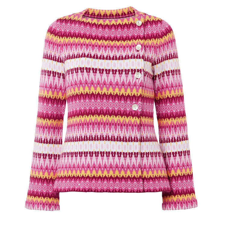 Jumperfabriken Siv cotton cardigan pink SS20