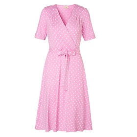 Jumperfabriken Celia Dot short sleeve dress pink