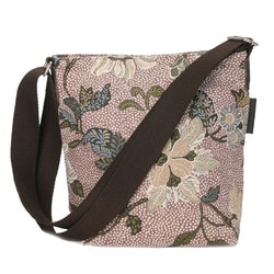 Ceannis Flower Linen Small Shoulder Bag dusty pink