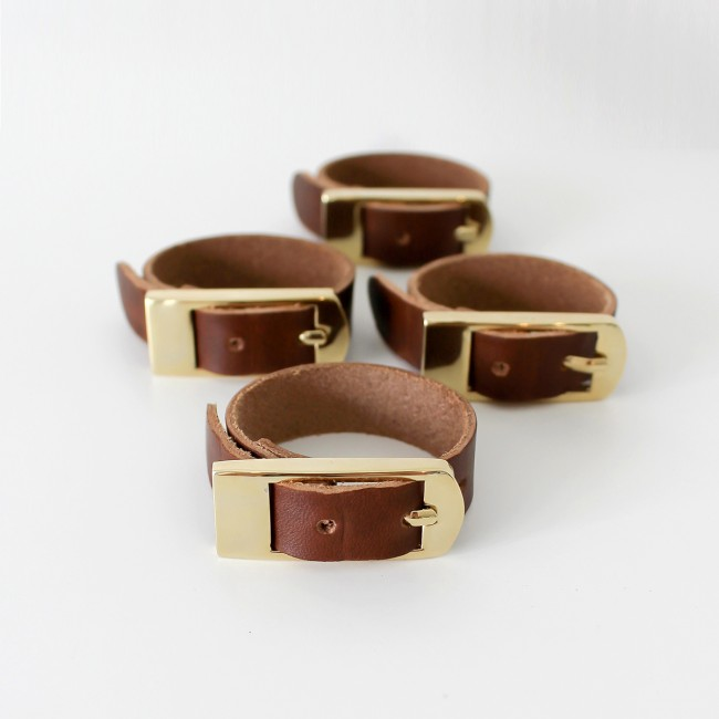 Dekohem servettringar Belt Brown 4-pack