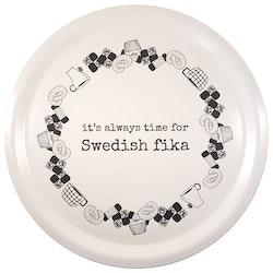 "Erika Tubbin ""Swedish Fika"" rund bricka"