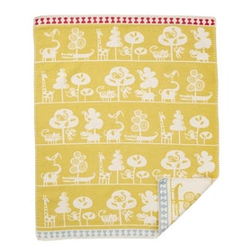 Klippan Yllefabrik bomullsfilt Serengeti yellow
