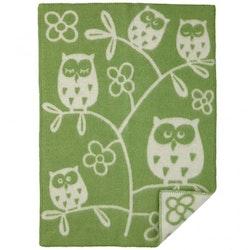 Klippan Yllefabrik ullfilt Tree Owl green