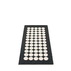 Pappelina matta Fia Black · Vanilla 70x150 cm
