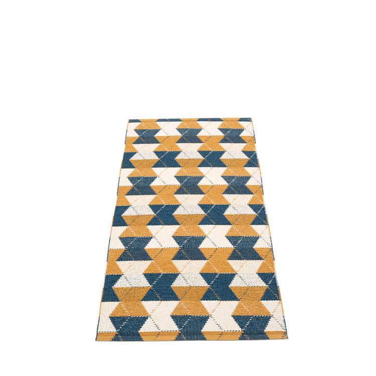 Pappelina matta Trip Ocean Blue · Ochre · Vanilla