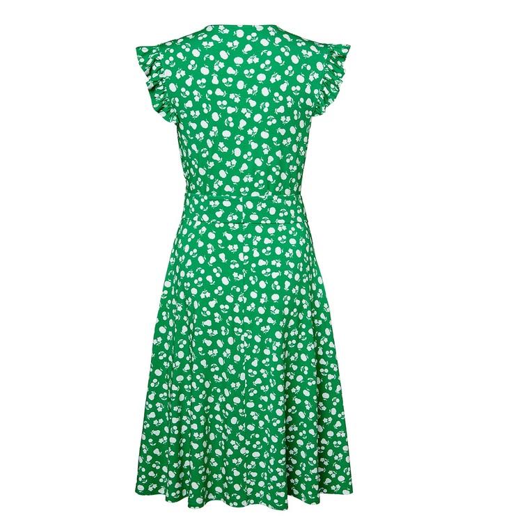 Jumperfabriken Dani dress green