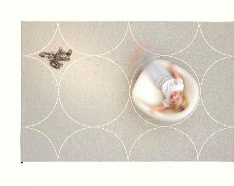Pappelina matta Boo Linen · Vanilla 180x275 cm