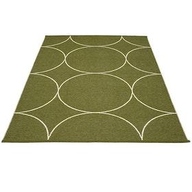 Pappelina matta Boo Dark Olive · Vanilla 180x275 cm