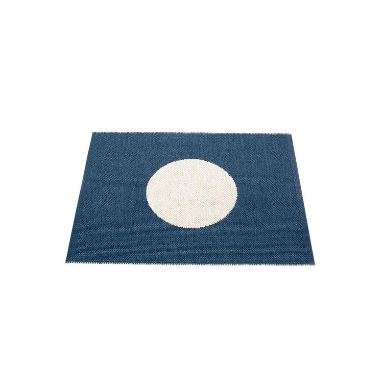 Pappelina matta Vera small one Ocean blue · Vanilla 70x90 cm