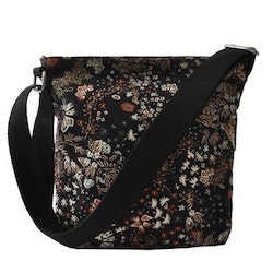 Ceannis Mixed Flower Small Shoulder Bag black
