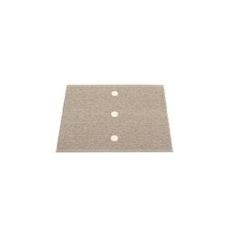 Pappelina matta Peg Dark Linen · Vanilla 70x60 cm