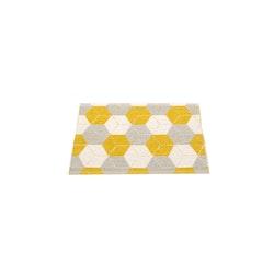 Pappelina matta Trip Mustard · Linen · Vanilla 70x50 cm