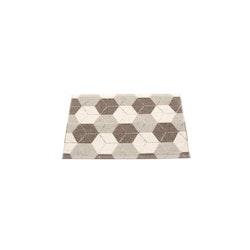 Pappelina matta Trip Dark Mud · Linen · Vanilla 70x50 cm