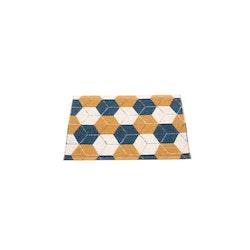 Pappelina matta Trip Ocean Blue · Ochre · Vanilla 70x50 cm