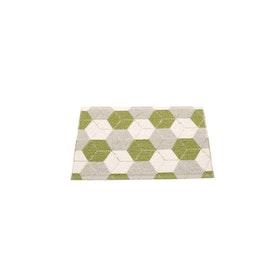 Pappelina matta Trip Olive · Linen · Vanilla 70x50 cm