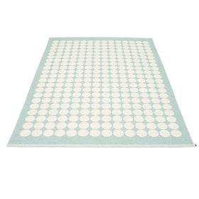 Pappelina matta Fia Pale turquoise · Vanilla 180x275 cm