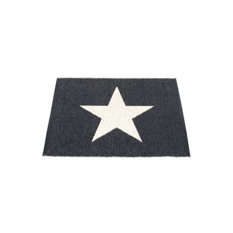 Pappelina matta Viggo Small One Black · Vanilla 70x90 cm