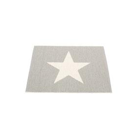 Pappelina matta Viggo Small One Warm grey · Vanilla 70x90 cm