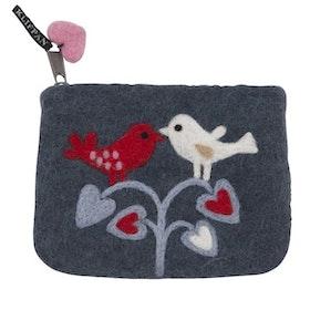 Klippan Yllefabrik filtad börs Love birds