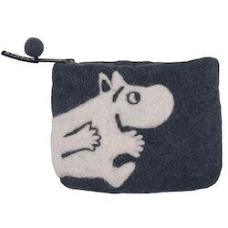 Klippan Yllefabrik filtad börs Moomin grå