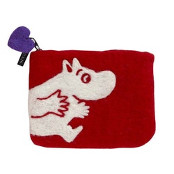 Klippan Yllefabrik filtad börs Moomin röd