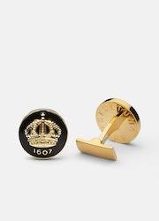 Skultuna Crown manschettknappar guld/svart