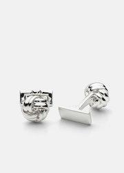 Skultuna Knot manschettknappar silver