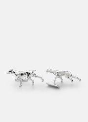 Skultuna Pointer Dog manschettknappar silver