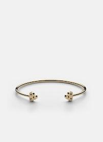 Skultuna Open key cuff armband guld small