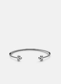 Skultuna Open key cuff armband stål small