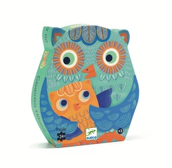 Djeco siluettpussel Hello Owl