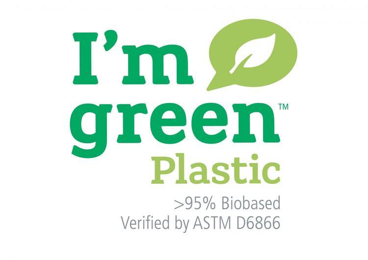 Hinzaväska stor Vinröd, Green Plastic